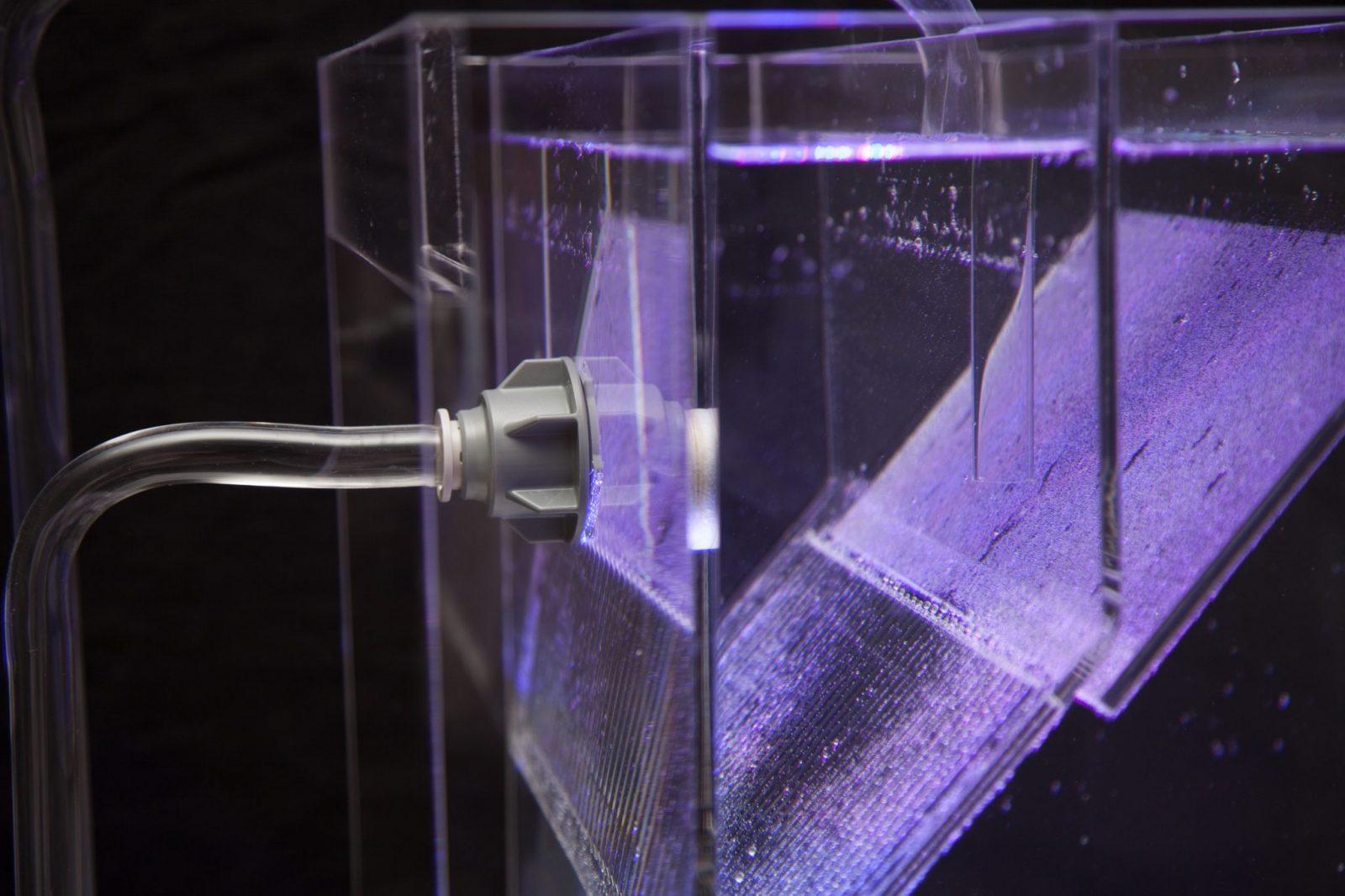 Medusa 45 Jellyfish Aquarium inlet close-up